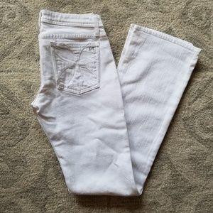 NWOT Habitual White Denim Slight Flare Jeans, 29